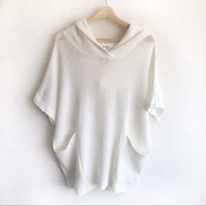 James Perse Waffle knit hoodie